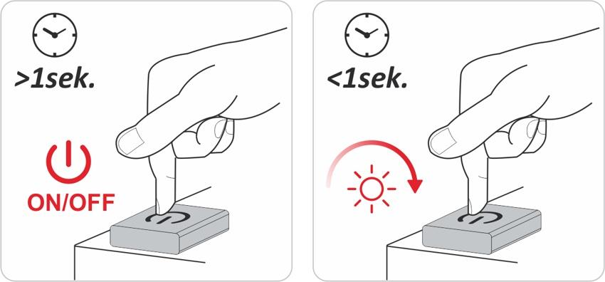Wyłącznik Touch LED ze ściemniaczemWyłącznik Touch LED ze ściemniaczem