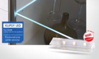 Klipsy LED - podświetlenie półek szklanych