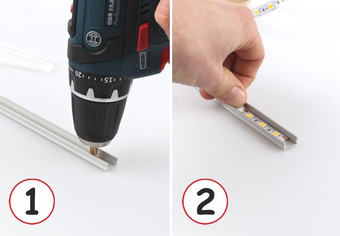 Montaż profilu LED cz.1