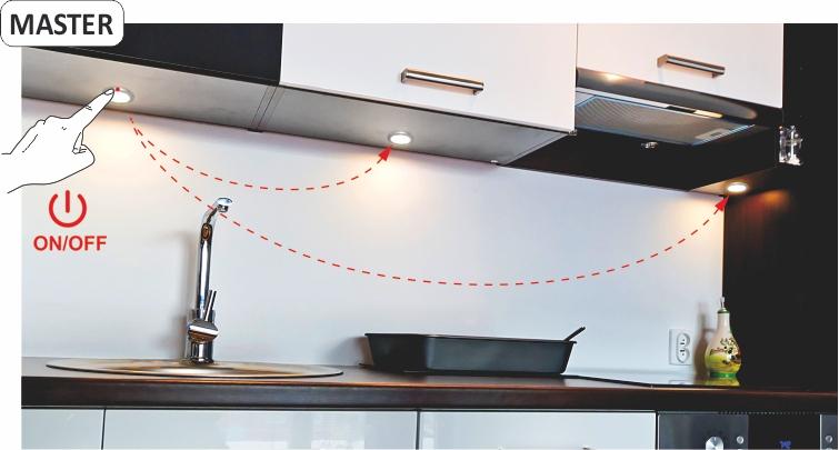 Orbit XL Master - oprawa LED z dotykowy wyłącznikiem