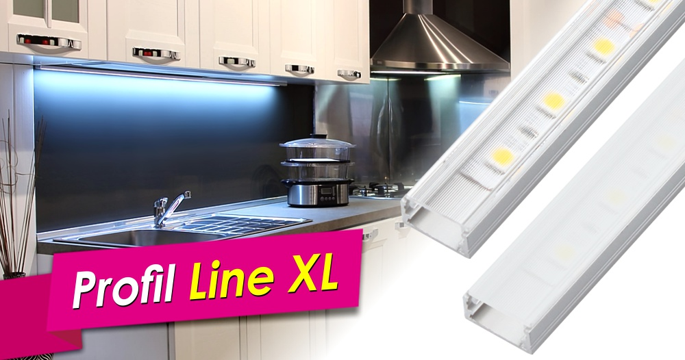 Profile LINE XL do taśm LED