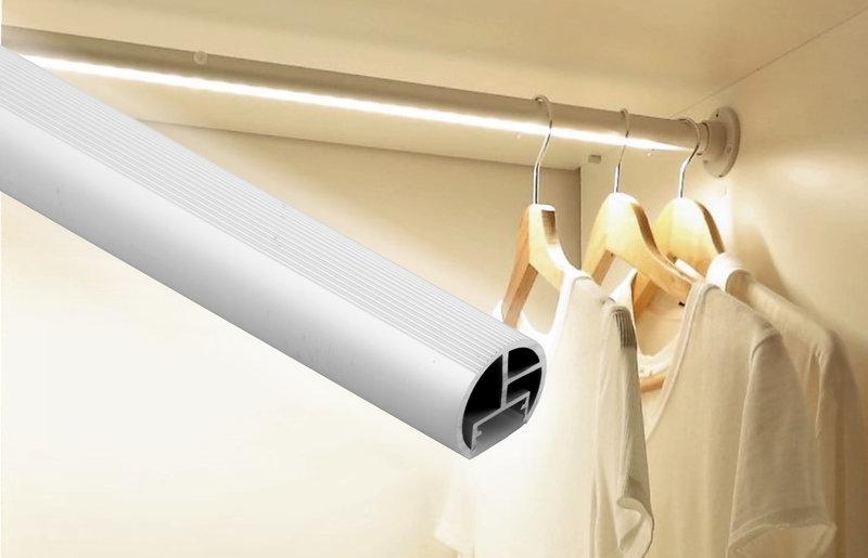 profil aluminiowy reling do taśm led do szafy - Designlight.pl