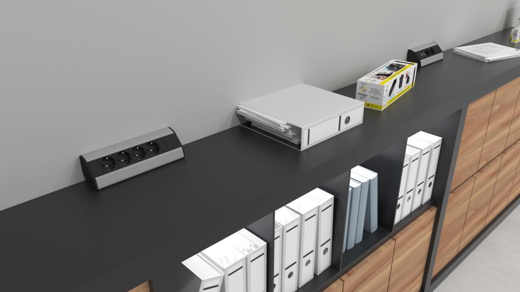 przedłużacz narożny do biura domowego - designlight