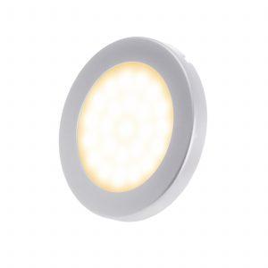 Przykład punktowej oprawy podszafkowej w postaci oczka LED.